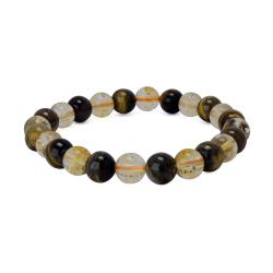 Iraq Buy Satyamani Natural Energized Fine Tiger Eye & Citrine Bracelet (Pack of 1 Pc.) Online