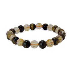 Satyamani Natural Energized Fine Tiger Eye & Citrine Bracelet (Pack of 1 Pc.)
