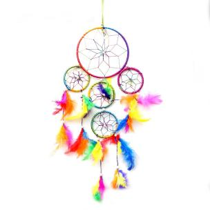 5 Elements Multi Color Dream Catcher for Vastu & Reiki