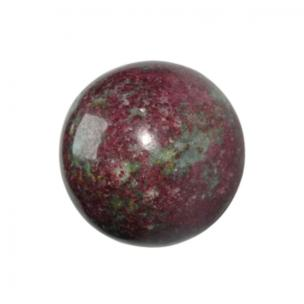 Satyamani Natural Ruby Kyanite Gemstone Sphere/Balls