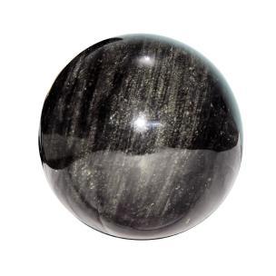 Satyamani Natural Golden Sheen Obsidian Sphere/Balls