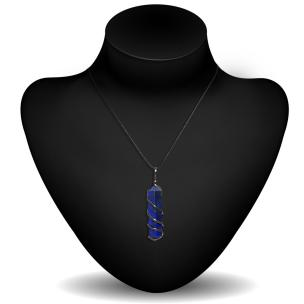 Satyamani Lapis Lazuli Double Point Pendant