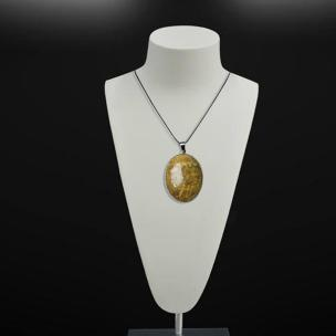 Satyamani Natural Agitated Coral Fossil Pendant
