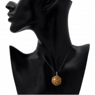 Satyamani Cabochon Wrapped Agate Crystal Pendant