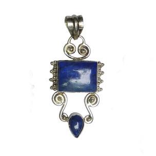 Satyamani Lapis Lazuli Metal Lapis Lazuli Crystal Pendant