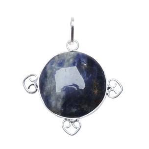 Satyamani Natural Energized Sodalite Designer Round Pendant
