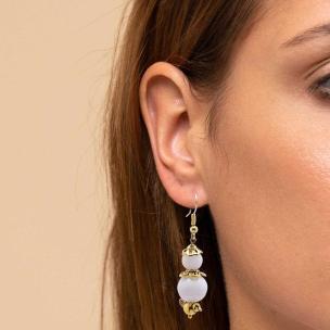 Satyamani Natural Dual Pearl Earring