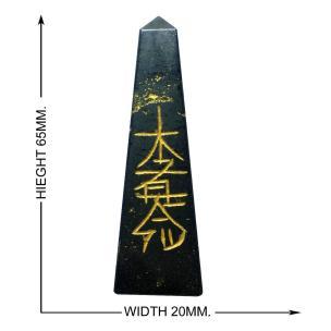 Satyamani Natural Energised Hematite Reiki Symbol Obelisk 65mm