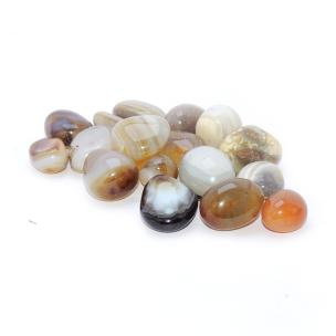 Satyamani Natural Yellow Agate Tumble stone