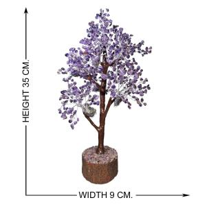 Satyamani Natural Amethyst M-Seal Silver Wire Tree (700 Dana)