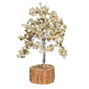 Satyamani Natural Energized Aventurine with Pearl Tree (240 Dana)