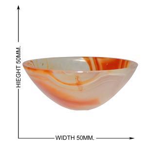 Satyamani Natural Carnelian Healing Bowl (Medium)