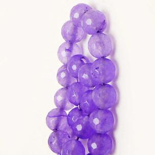 Satyamani Heat Processed Faceted Charoite Beads 8 mm