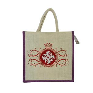 Alokik Eco Friendly Multipurpose Reusable Mandala Print Shopping Grocery Carry Bag Purple