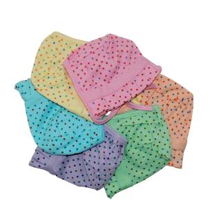 Life Begin with Satyamani Baby Deluxe Cap Dots Medium (6 to 9 months) size (Pack of 6)