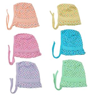 Life Begin Baby Just Dots Cap Small(0 to 3 months)(Pack of 6)Nappy (pack of 6)Mitten(pack of 3)