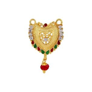 Satyaman Gold Plated V Shape Tanmaniya Art 8