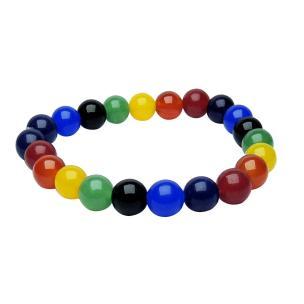 Satyamani 7 Chakra Onyx Bead Bracelet (Pack of 1Pc)