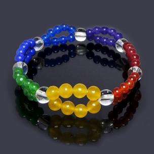 Satyamani 7 Chakra Small Double Row Bracelet