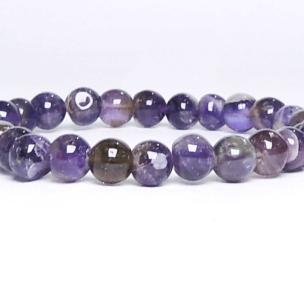 Satyamani  Amethyst 6 MM Bead Bracelet (Pack of 1Pc)