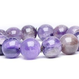 Satyamani Amethyst 10 mm Bead Bracelet (Pack of 1Pc)