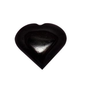 Satyamani Black Tourmaline Heart Cabochon Big
