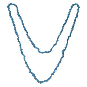 Satyamani Blue Howlite Chips Necklace For Communication