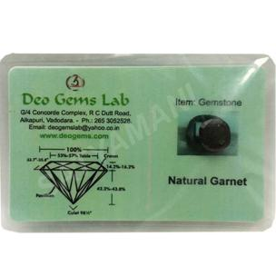 Satyamani Certified Natural Red Garnet Gemstone