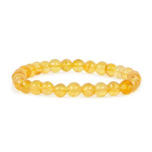 Satyamani Citrine round bead bracelet