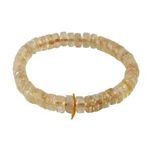 Satyamani Citrine Roundelle Bracelet (Medium) (Pack of 1Pc)