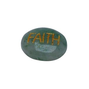 Satyamani Confidence Enhancer Energized Green Aventurine Stone Faith Cabochon