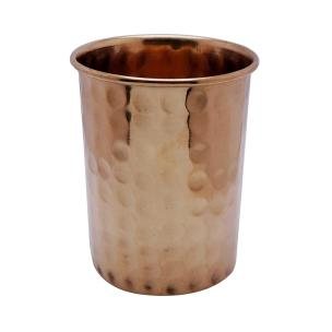 Satyamani Copper Glass for Water 250 ml. Diamond waves (Pack of 2 Pcs.)