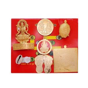 Satyamani Energized Gold Plated Lakshmi Chalisa Yantra Set