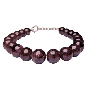 Satyamani Garnet Bead with Hook Bracelet (Pack of 1Pc)