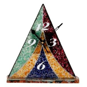 Satyamani Handcrafted Multi Color Crystal Semi Precious Wall Clocks VIII