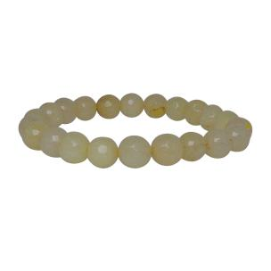 Satyamani Heat Processed Calcite 8 mm Bead Bracelet Designer 1