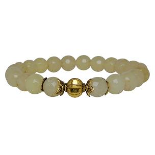 Satyamani Heat Processed Calcite 8 mm Bead Bracelet Designer 2