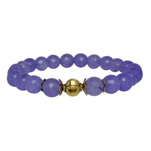Satyamani Heat Processed Charoite 8 mm Bead Bracelet Designer 2 Color: Purple, For Unisex