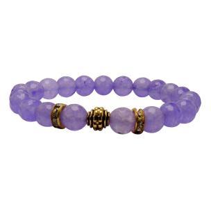 Satyamani Heat Processed Charoite 8 mm Bead Bracelet Designer 3 Color: Purple, For Unisex