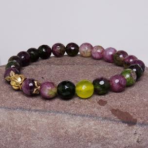 Satyamani Heat Processed Multi Tourmaline 8 mm Bead Bracelet Designer 2 Color: Multi color, For Unisex