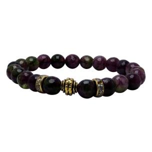 Satyamani Heat Processed Multi Tourmaline 8 mm Bead Bracelet Designer 3