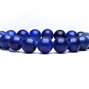 Satyamani Lapis Lazuli Bead Bracelet 10 MM