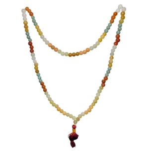 Satyamani Mixed Jade 108 Beads Necklace