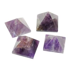 Satyamani Natural Amethyst Pyramid 30 mm.