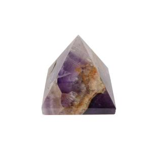 Satyamani Natural Amethyst Pyramid 60 mm.