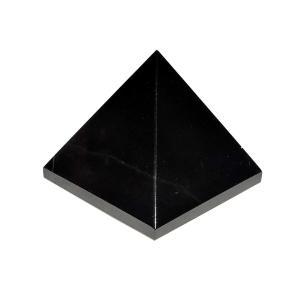 Satyamani Natural Black Agate Pyramid 30 mm.