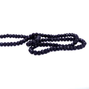 Satyamani Natural Black Obsidian 4 mm Faceted Beads (pack of 5 pcs.)