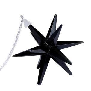Satyamani Natural Black Tourmaline Galaxy Merkaba Star with Healing Properties