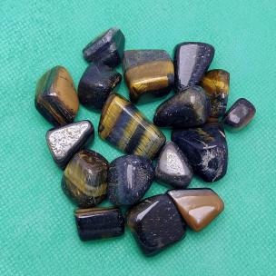 Satyamani Natural Blue Tiger Eye Tumble for Prosperity and Wealth