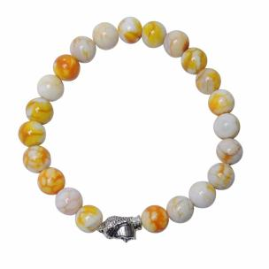 Satyamani Natural Bumble Bee 8 mm Beads Buddha Bracelet